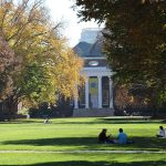 Memorial Hall in the fall