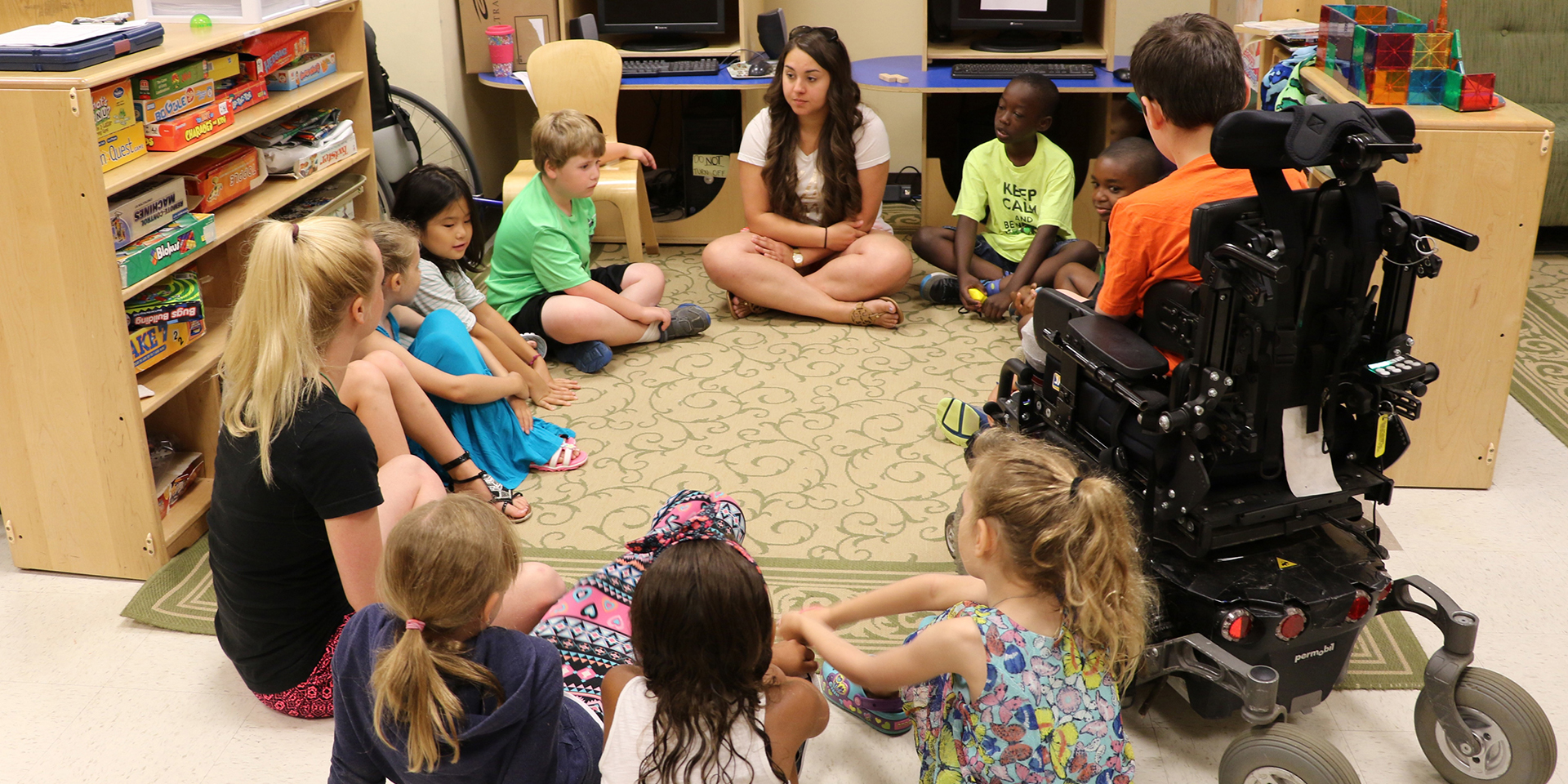 Teacher in inclusive classroom