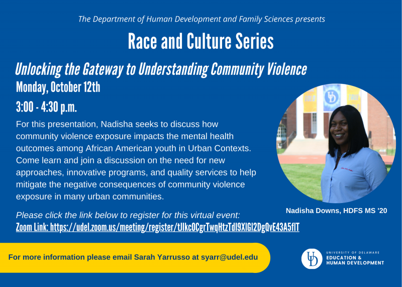 Race and Culture Series flyer