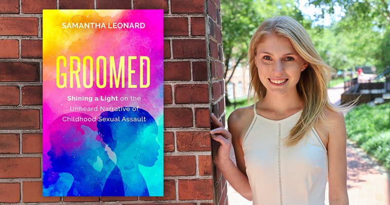 Samantha Leonard with Groomed book cover