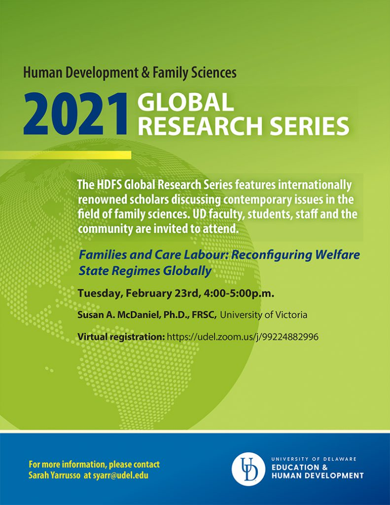 Global Research Series flyer for Spring 2021